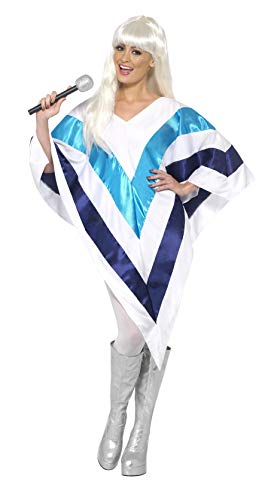 Smiffy's Super Trooper Poncho para mujer, 70 Disco, Serious Fun, One Size, 33568