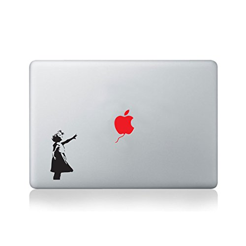 Banksy Little Girl Red Balloon Vinyl Decal for Macbook (13/15) or Laptop