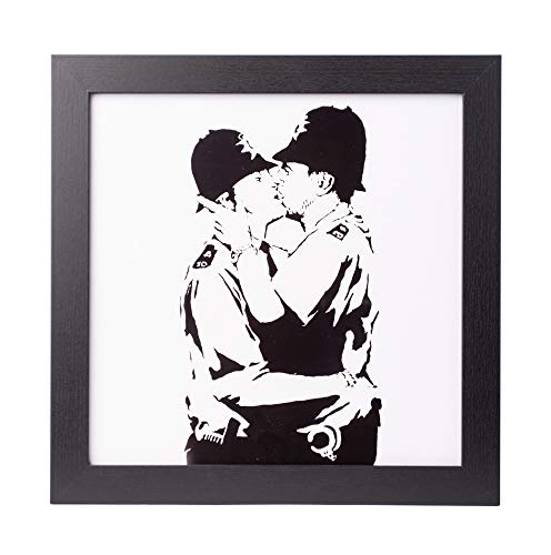 Grupo Erik PE30X30CM0013 Cuadro Decorativo Banksy Bobbies Kissing, Biss