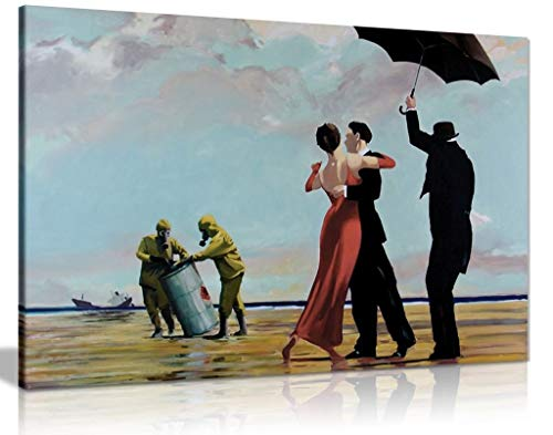 Panther Print Lienzo Decorativo para Pared de Banksy Toxic Beach (24 x 16)