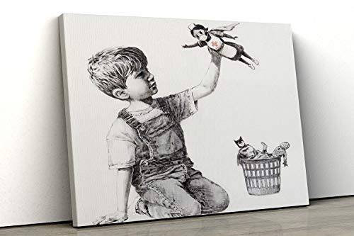 52 North Banksy Super Nurse Hospital famosa Wall Art Print - Impresión en varios tamaños, A0...