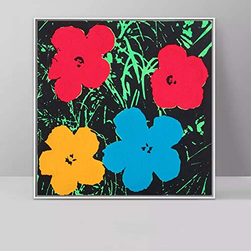 Cuadro de Tres Flores sin Marco de Andy Warhol Pop Art Print Poster Abstract Wall Painting Home...