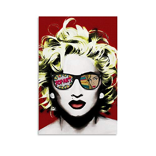 GJWL Madonna Pop Art Canvas Poster y Wall Art Picture Print Modern Family Bedroom Decor Posters 20 x...