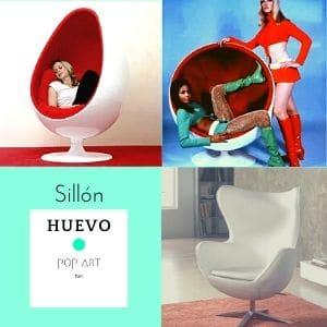 sillon huevo de diseño años 60